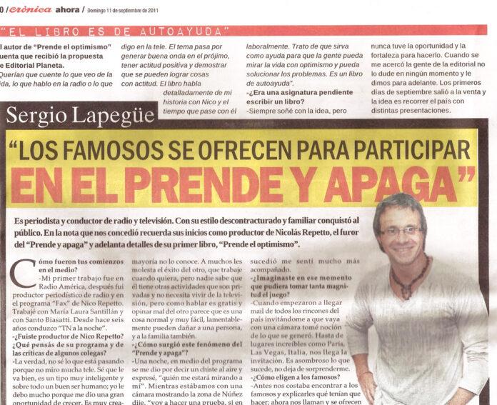 Diario Crónica Sergio Lapegue