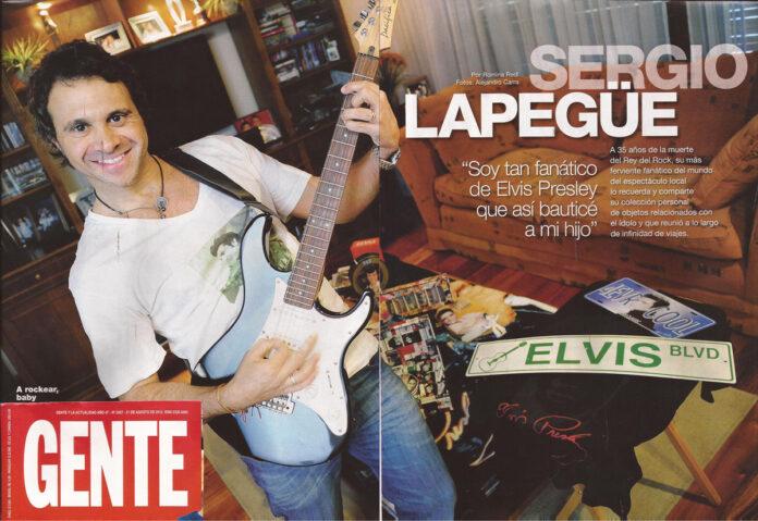 Revista Gente Sergio Lapegue
