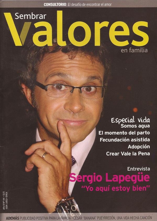 Revista Siembra Valores en familia Sergio Lapegue